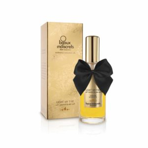 Bijoux Indiscrets® Let My Fire, huile de massage chauffante, caramel
